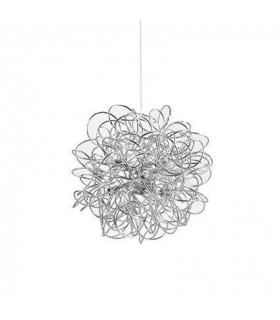 8 Light Small Ribbon Ceiling Pendant Silver
