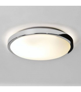 Bathroom Flush 2 Light Ceiling Polished Chrome IP44, E14