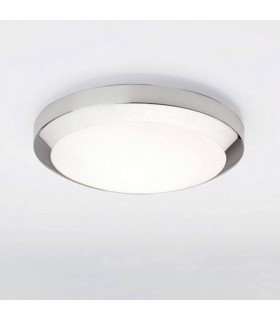 1 Light Bathroom Flush Ceiling Light Polished Chrome IP44, E27