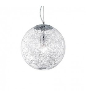 1 Light Large Globe Ceiling Pendant Chrome