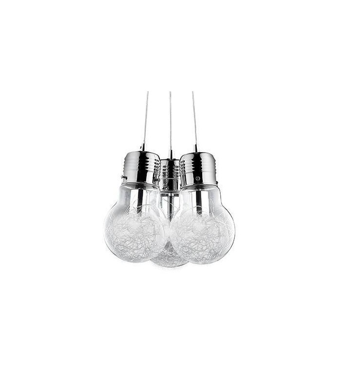 3 Light Ceiling Pendant Chrome