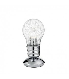 Light Bulb Shape Table Lamp Chrome