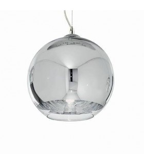 1 Light Small Globe Ceiling Pendant Chrome