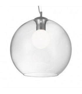 1 Light Large Globe Ceiling Pendant Clear