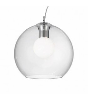1 Light Medium Globe Ceiling Pendant Clear