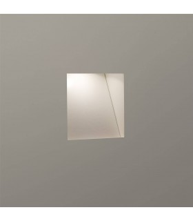LED 1 Light Indoor Recessed Marker Wall Light White