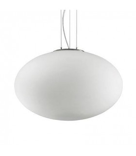 1 Light Large Globe Ceiling Pendant White