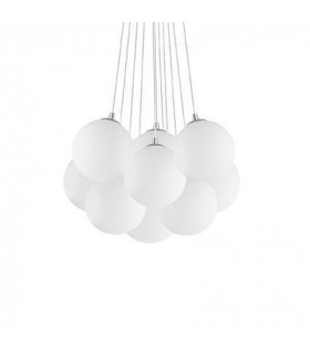 11 Light Small Cluster Pendant White, E14