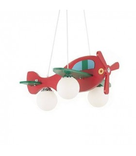 Red And Green Aeroplane Pendant
