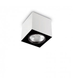 1 Light Large Square Surface Mounted Downlight White