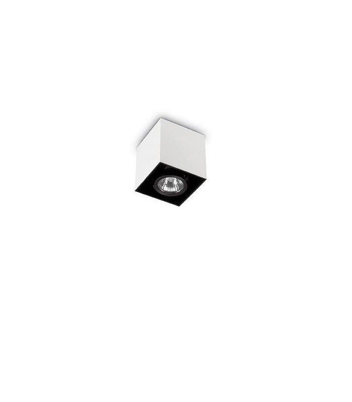 1 Light Small Square Surface Mounted Downlight White