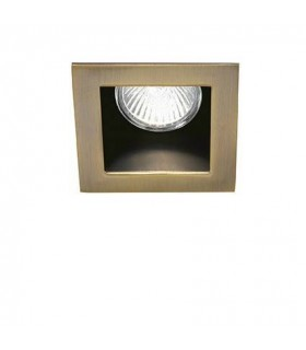 1 Light Recessed Spotlight Bronze