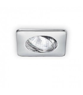 1 Light Tiltable Recessed Spotlight Chrome
