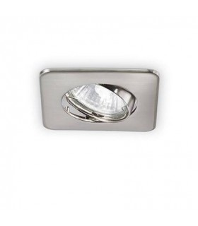 1 Light Tiltable Recessed Spotlight Nickel