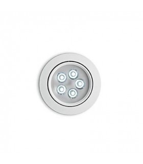 LED 5 Light Large Tiltable Recessed Spotlight Aluminium 4000K (Driver Included)