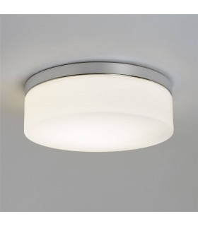 1 Light Bathroom Ceiling Light Polished Chrome IP44, E27